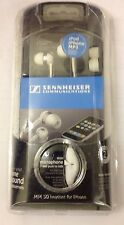 Sennheiser Mm 50 Ip Blanco Con Canal Auditivo Audífono Para Iphone-Blanco Original