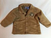 Koala Kids Toddler Boys size 36 Months 3T - 4T Jacket Brown SHERIFF Western Coat