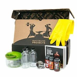 Man Crates Hot Sauce Making Kit Complete BRAND NEW IN BOX