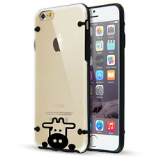 For Apple iPhone SE 5 5s 6 6s 7 Plus Clear TPU Hard Case Cover Peeking Cow