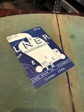 More details for lner 1946 renumbering booklet
