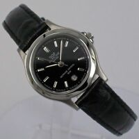 Glycine Women's Watch Quartz with Leather Strap and Date 3689.19 Steel NEW