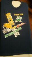 Notre Dame Fighting Irish-Vintage 1988 National Championship Trench Tshirt-Large