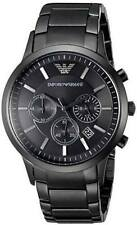 NEW EMPORIO ARMANI AR2453 MENS BLACK CHRONOGRAPH