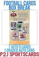 Leaf 2020 Valiant JUMBO FOOTBALL CARD Box BREAK🏈1 RANDOM TEAM🏈NFL🏈Break 3423