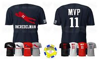 New England Patriots Julian Edelman MVP Champion BACK Jersey Tee Shirt Men S-5XL