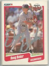 Minnesota Twins DOUG BAKER autographed 1990 Fleer