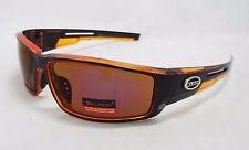 Xloop Sunglasses CLEAR ORANGE & BLACK Colorful Tint Lens Unisex Men Sport New
