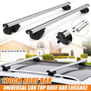 120cm Universal Car Roof Rack Cross Bars Aluminium Adjustable Luggage Carrier AU