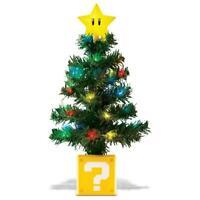 "Super Mario Bros LED Light Up 10"" Desktop Christmas Tree Nintendo New in Box"