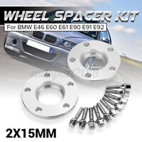 Cale Elargisseurs Voie PCD 5x120 Ø 72.6mm 15mm pour BMW E46 E60 E61 E90 E91 E92