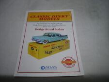 Fiche descriptive certificat Dodge Royal Sedan Vert  Dinky Toys 191 Atlas GB