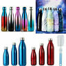 350-1000ML Water Bottle Vacuum Insulated Flask Gym Sport Thermal Chilly Hot Cold