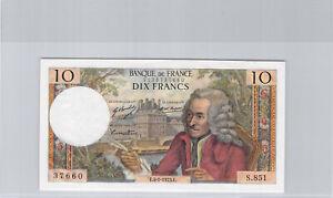 France 10 Francs Voltaire 4.1.1973 S.851 n° 2126737660 Pick 147d Splendide