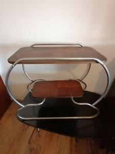 Art Deco Beistelltisch Stahlrohrgestell Tisch Schlaufenfuss Vintage Bauhaus