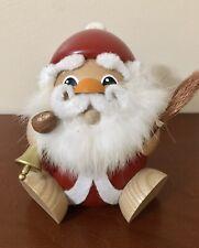 Erzgebirge German Incense Burner Smoker Santa Fat Round Santa