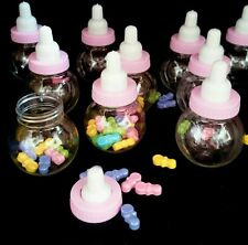 36 Fillable Bottles For Baby Shower Favors Pink Party Decorations girl