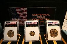 CENTENNIAL GOLD COLLECTION MERCURY DIME WALKING LIBERTY STANDING LIBERTY W/ COA