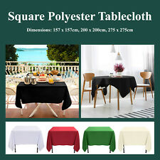 Square Polyester Tablecloth 200GSM Wedding Event Party Banquet Tableware Covers
