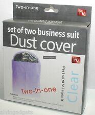 Non-woven Coat Suit Garment Dress Dust Proof Cover Storage Dust Cover(Black)