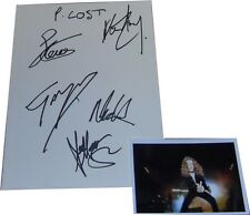 Paradise Lost SIGNED AUTOGRAPHs MTVs Most Wanted Guest Book Page AFTAL