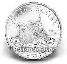 Canada 2010 Navy Centennial 100th Corvette HMCS Sackville $1 Silver Proof Dollar