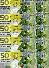 LOT, Kamberra, POLYMER, 10 x 50 Numismas, China Lunar Year 2013, UNC > Snake