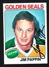 Jim Pappin signed autographed auto 1975-76 Topps Hockey Trading Card