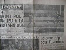 FOOTBALL COUPE DE FRANCE SAINT-POL RENNES RALLYE OASIS PARIS DAKAR L'EQUIPE 1978