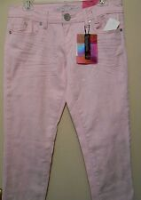 Almost Famous Junior Sparkle Skinny Jeans Pink 9 NWT