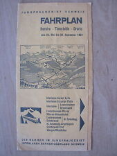 VINTAGE 1961 FAHRPLAN SWITZERLAND RAIL TIME-TABLE WITH HOTEL BERGHAUS TARIFF