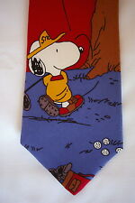 Peanuts Snoopy and Woodstock Men's Necktie Golf
