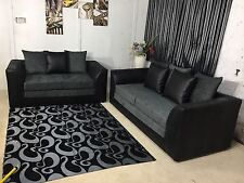 NEW DYLAN 3,2,1 SEATER CHENILLE,FAUX LEATHER,ENGLISH SOFA SETTEE COUCH