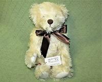 "14"" MOHAIR TEDDY BEAR HILDEGARD GUNZEL COLLECTION BLOND POSY 17/150 TAG JOINTED"
