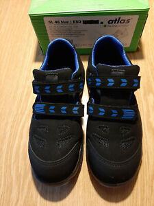 Damen ATLAS Sicherheitsschuhe ESD SL 46 blue S1 sportline Sandale