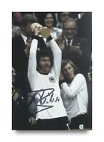 Paul Breitner Signed 6x4 Photo Bayern Munich Germany Autograph Memorabilia + COA