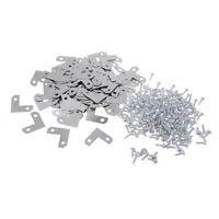 100x Metal Corner Brace Plate Right Angle Flat Bracket for Photo Frame