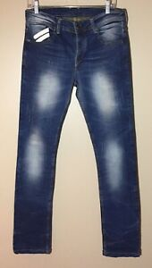 TAKESHY KUROSAWA Denim Jeans Hand Made In Italy Distressed Button Fly Men's W33