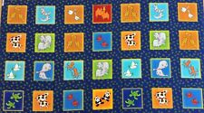 fabri-quilt - 2 x 2 Rango Animal Cuadrado Panel - 100% Tela De Algodón Panel