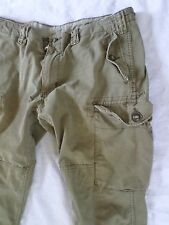 POLO RALPH LAUREN olive drab straight modern military cargo pants 38x30