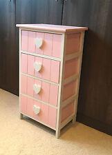 rose unité de stockage commode tiroir enfants filles Meuble Cœur Table de chevet