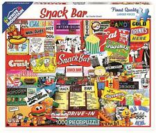 WHITE MOUNTAIN JIGSAW PUZZLE SNACK BAR CHARLIE GIRARD 1000 PCS #1195