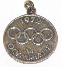 Vintage 1972 Olympics Olympiade Munchen Sterling Silver Bracelet Charm Pendant
