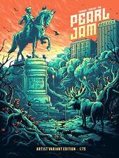 Pearl Jam Boston Fenway Poster Dan Mumford Orange Variant Signed Numbered /100