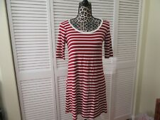 Heart n Hips Dress M,NEW, Cranberry and white striped, low cut back