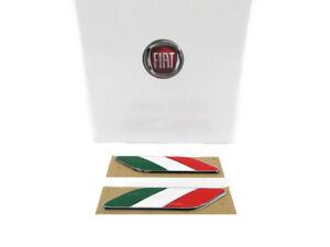 2012-2017 FIAT 500 ITALIAN FLAG FENDER EMBLEMS BADGES OEM MOPAR GENUINE NEW