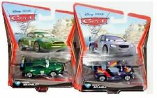 CARS 2: NEU 1:55 MAX SCHNELL & NIGEL GEARSLEY 2x RARE WORLD GRAND PRIX RENNWAGEN
