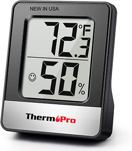 Digital Room Thermometer Indoor Hygrometer Temperature Monitor Humidity Meter US