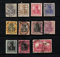 Germany stamps #80 - 91, used, 1905 - 1919,  SCV $17.50