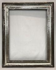 Antique Mid 19th C Silver Lemon Golden Gilt Frame 18 x 24 Opening
